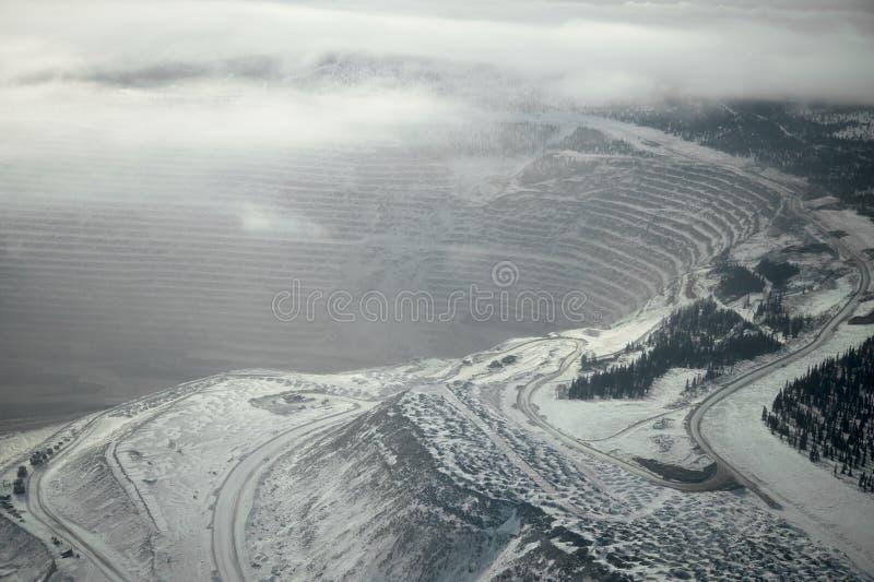 Ladera del invierno fotografía de archivo