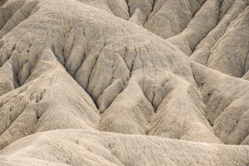Laderas erosionadas del desierto de Fortuna en España fotografía de archivo libre de regalías