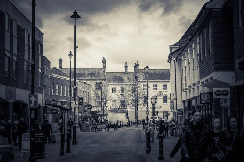Laderaum-Markt-Stadt stockfotografie