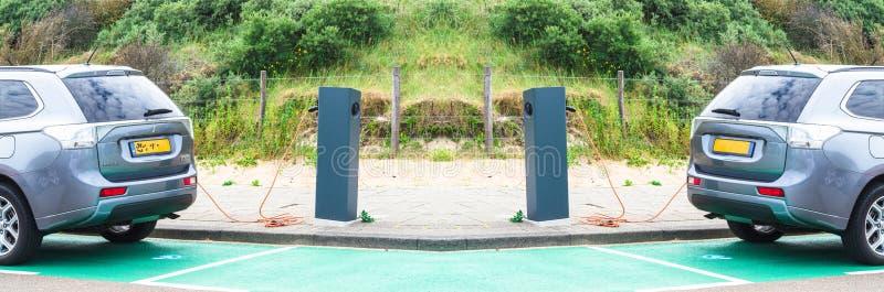 Ladestation Aku für Elektro-Mobile stockbilder