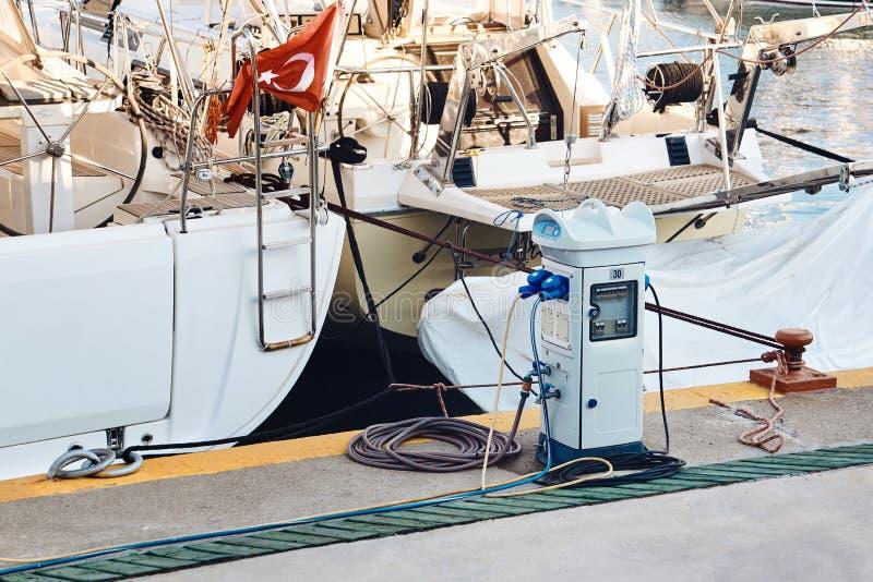 Ladestation für Boote stockfotografie