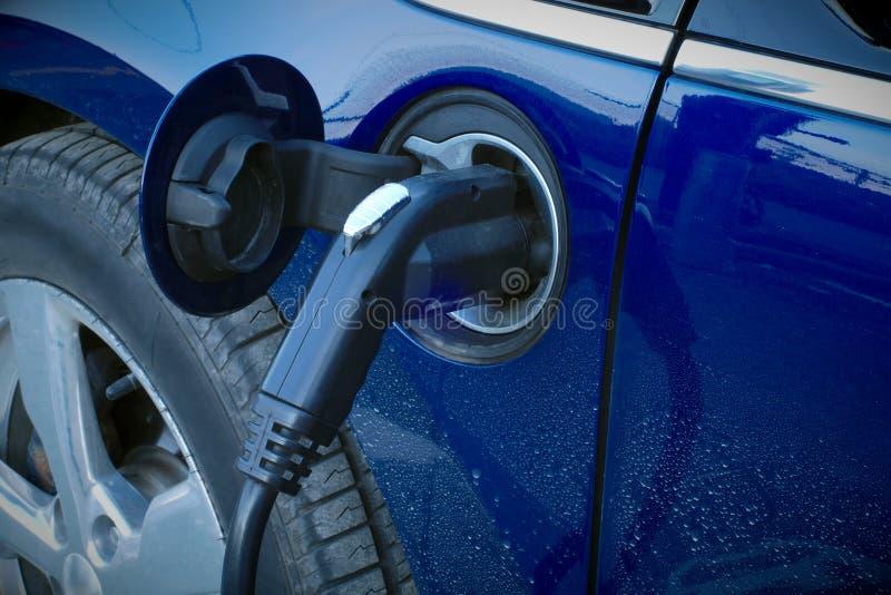 Ladestationsstromkabel des Elektroautosteckers lizenzfreies stockbild