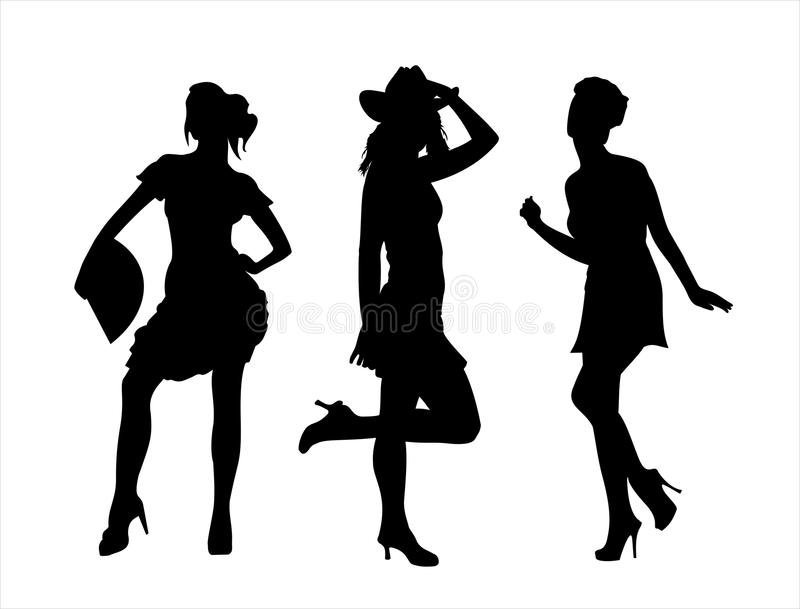 Download Ladies stock vector. Illustration of contour, hand, design - 10779158