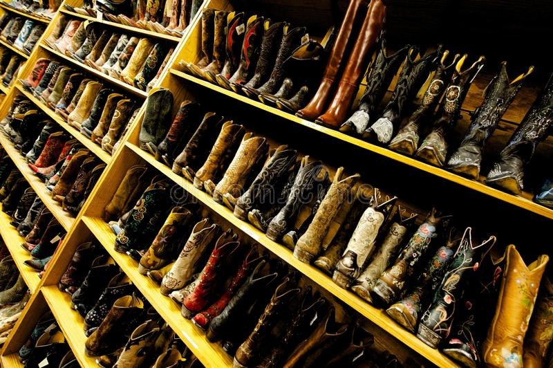 Download Ladies' Cowboy Boots Line The Shelves, Austin, TX Stock Image - Image of girls, congress: 18956941