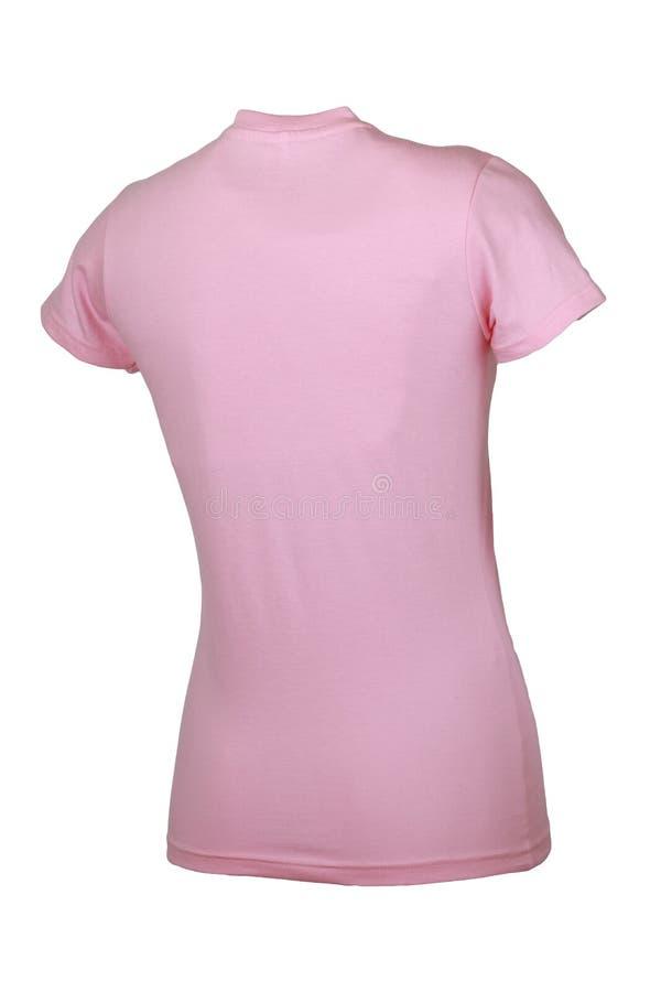 Ladies crew neck tshirt royalty free stock image