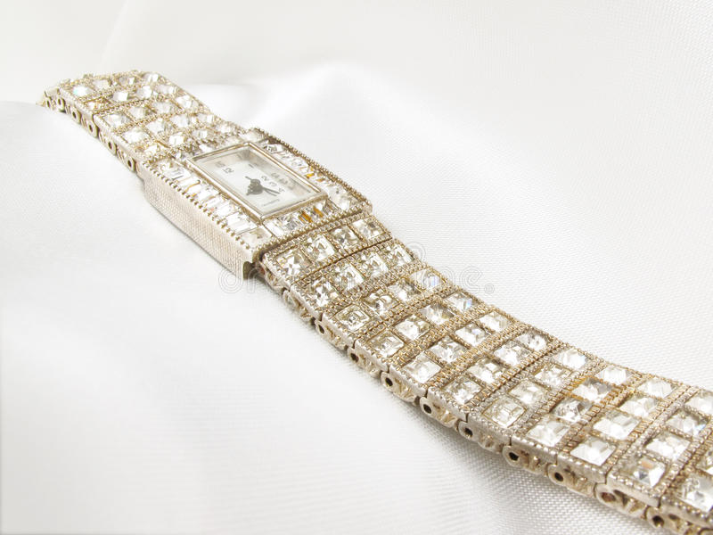 Ladies Diamon Watch Royalty Free Stock Images