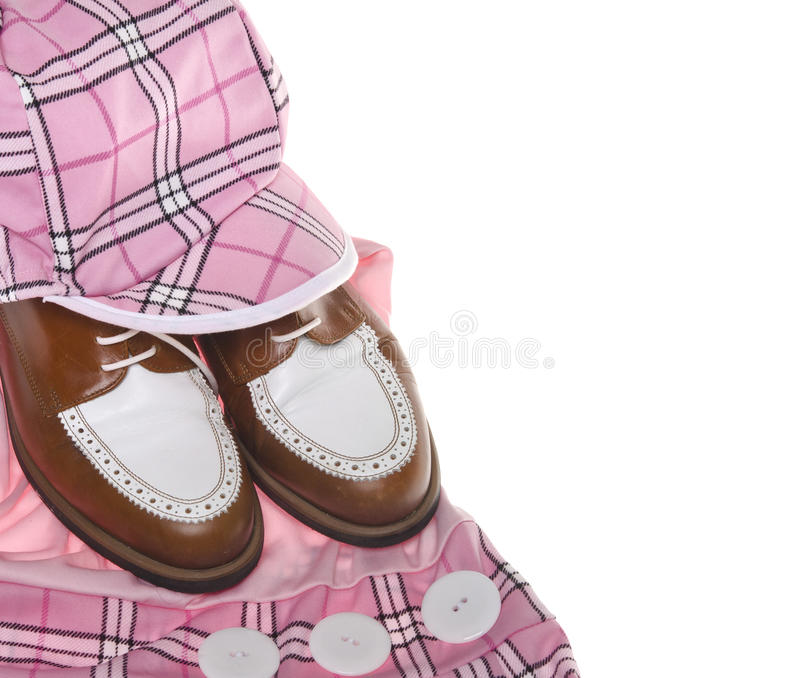 Download Ladies Golf Shoes And Plaid Clothing Stock Photo - Image: 25147922