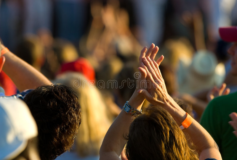 Ladies Hands Clapping Stock Photography