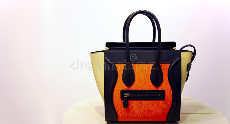 Ladies luxury handbag stock image
