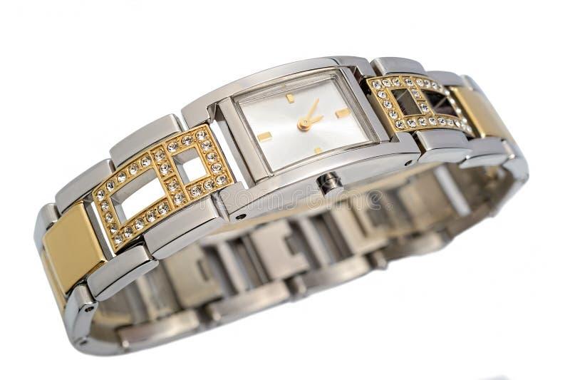 Ladies luxury wrist watch. On white background. Studio shoot, not isolated stock images