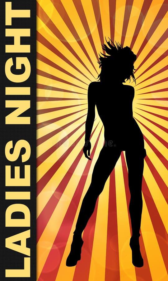 Download Ladies Night Bar Or Club Poster Stock Illustration - Illustration of retro, funky: 13086222