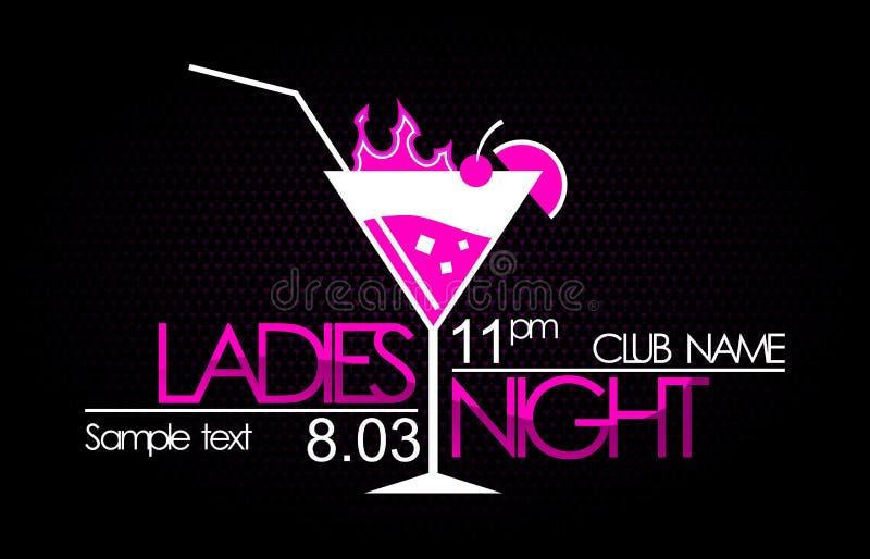 Ladies night. Logo in vector