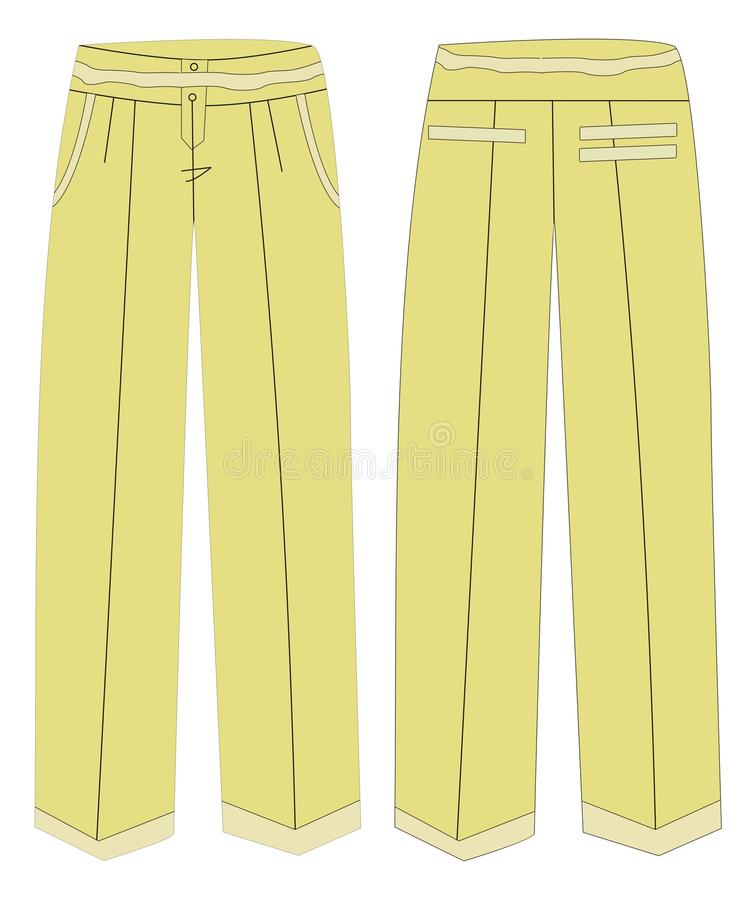 Download Ladies Pant stock illustration. Image of easy, cloth - 10726700
