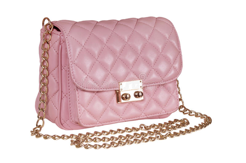 Ladies' pink handbag royalty free stock photography