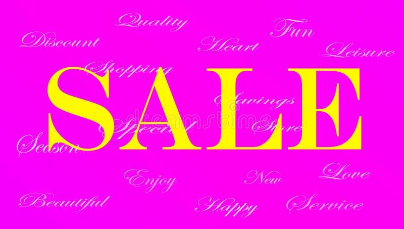 Ladies Sale banner ad stock illustration