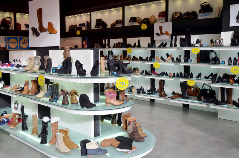 Ladies Shoe store stock photography