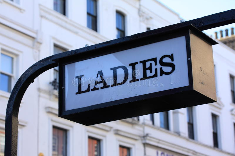Ladies. Sign in Camden Town, London royalty free stock photography