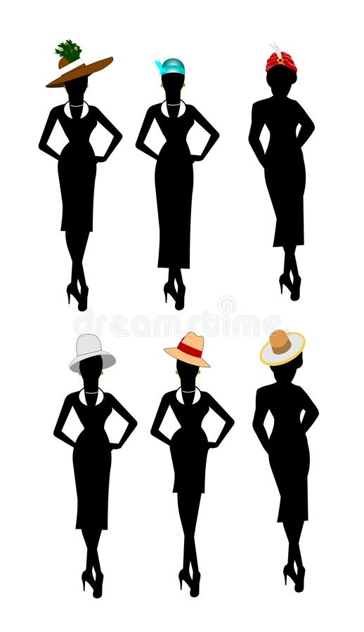 Ladies of style and fashion vector illustration
