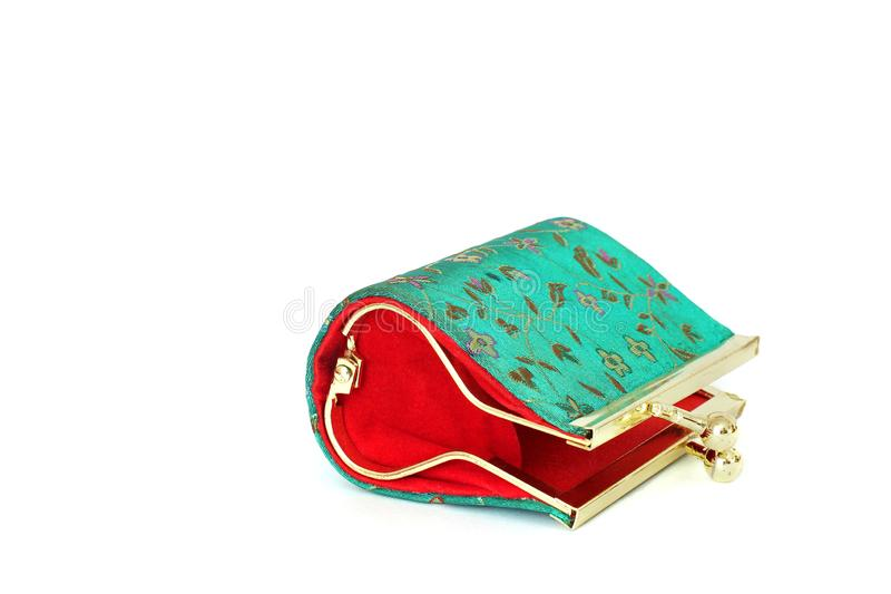 Ladies wallet for coins. Ladies handbag royalty free stock photography