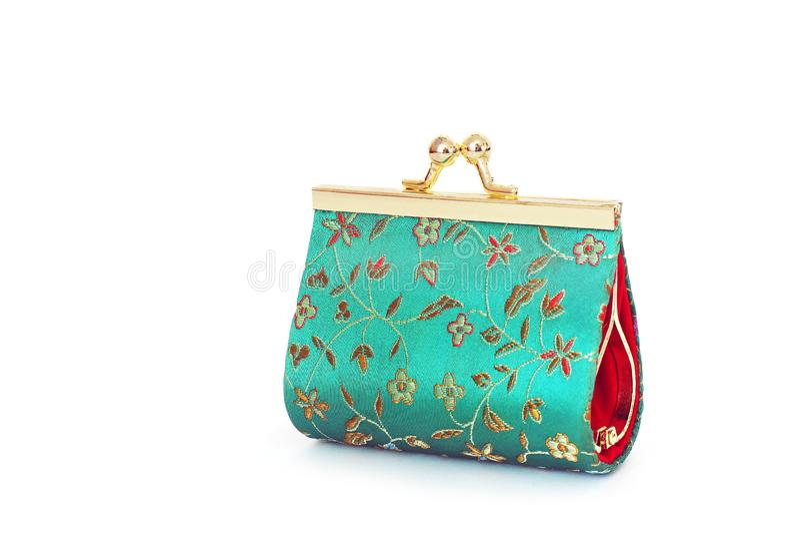 Ladies wallet for coins. Ladies handbag royalty free stock photos