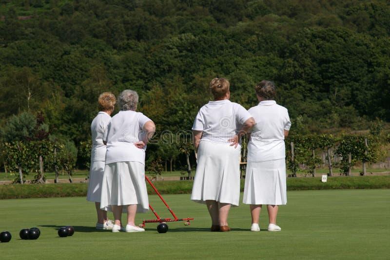 Ladies Who Bowl royalty free stock image