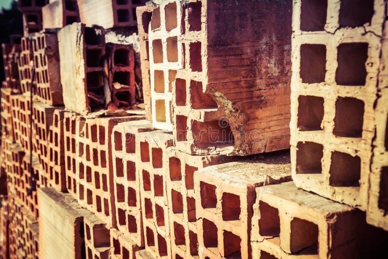 Lading van bakstenen stock afbeelding