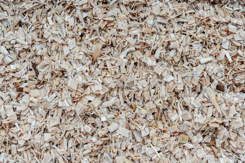 Lading van spaanders van hout Textuur Draag door vrachtschip stock foto's