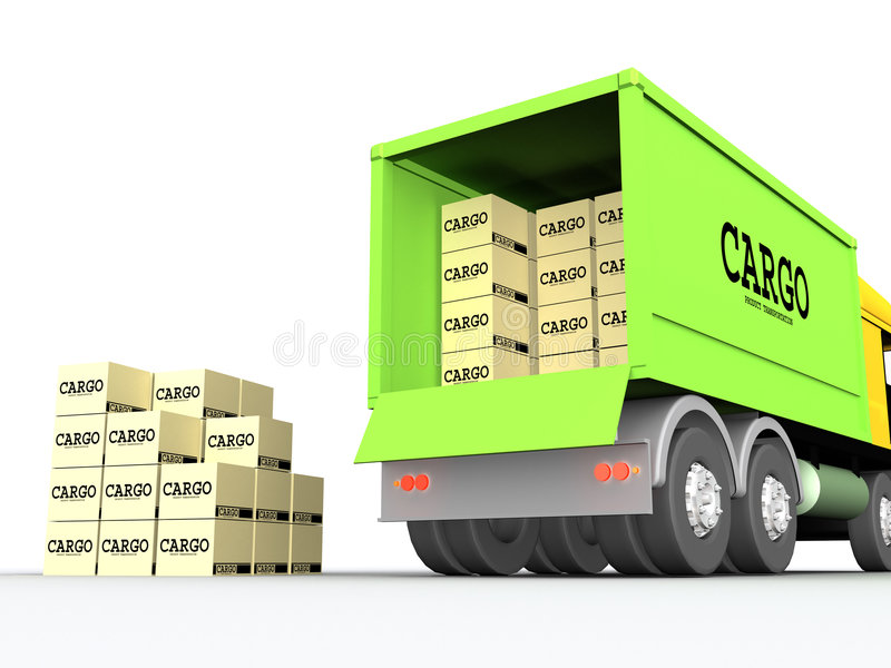 Lading-vrachtwagen #1 stock illustratie