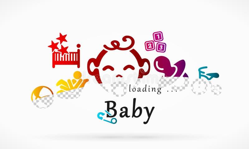 Ladingsbaby stock illustratie