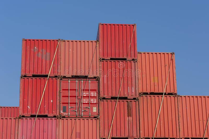 Ladingscontainer stock fotografie