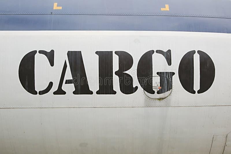 Ladingsetiket op vliegtuigen stock afbeeldingen