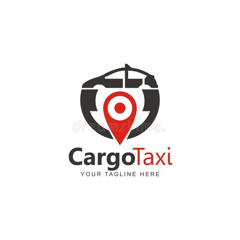 Ladingstaxi Logo Design Inspiration royalty-vrije illustratie