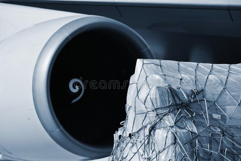 Ladingsvliegtuig royalty-vrije stock foto