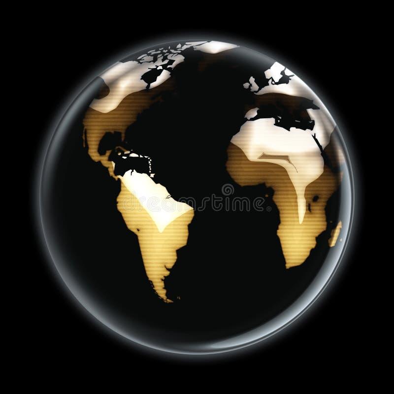 Lado acastanhado A do mundo ilustração royalty free