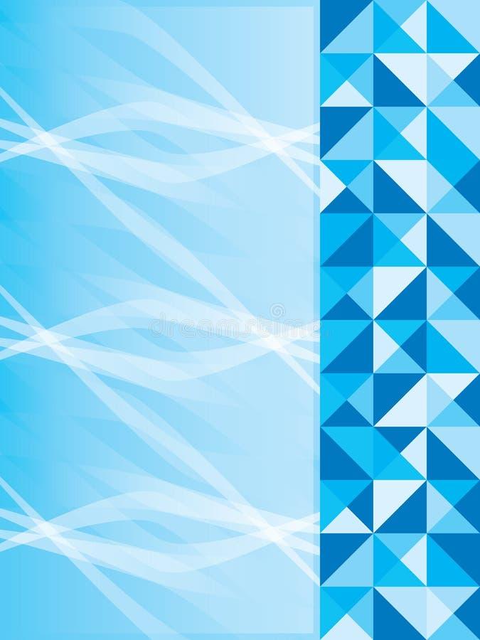 Lado azul da página ilustração royalty free