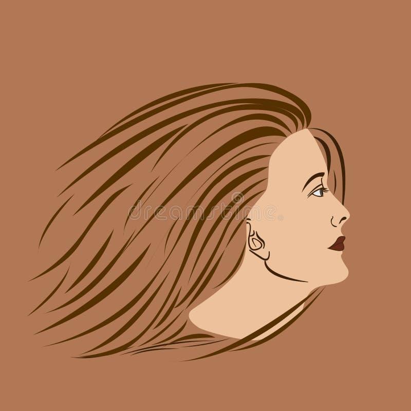 Lado da mulher ilustração royalty free