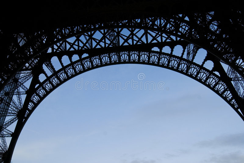 Lado de baixo de Eiffel fotos de stock