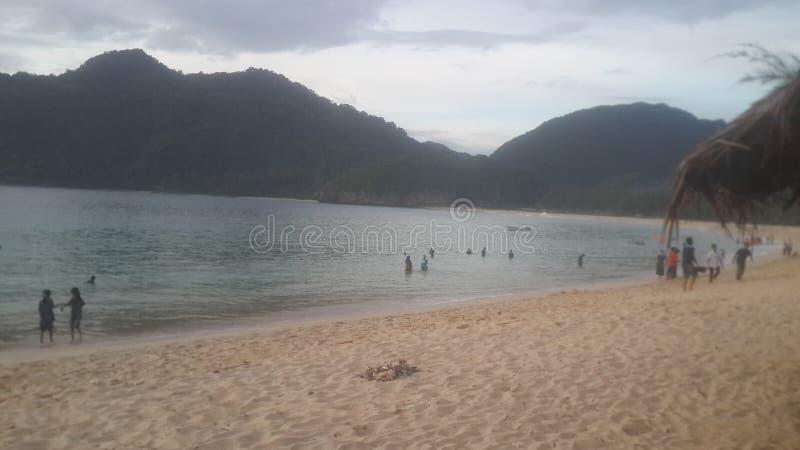 Lado de la playa de Lampuuk imágenes de archivo libres de regalías