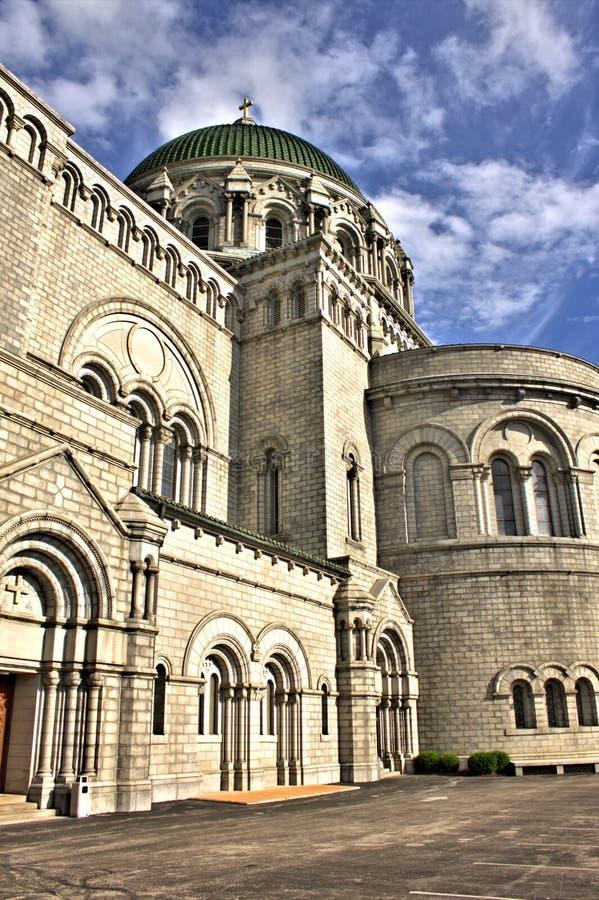 Lado de Louis Cathedral del santo fotos de archivo