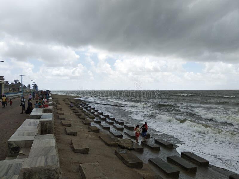 Lado de mar bonito em bengal ocidental india imagem de stock royalty free