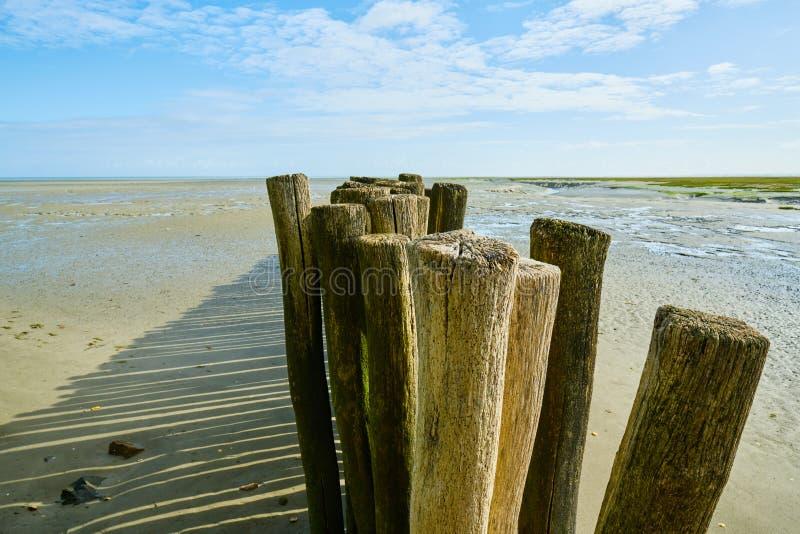 Lado de mar em Brittany, ondes do DES do benoît de Saint, França fotos de stock