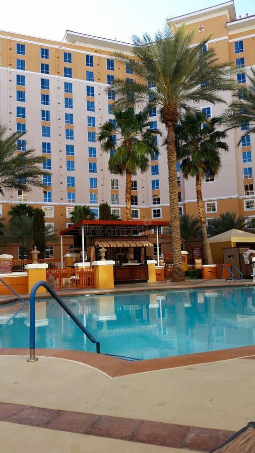 Lado de relaxamento da associação em um hotel de Las Vegas foto de stock royalty free