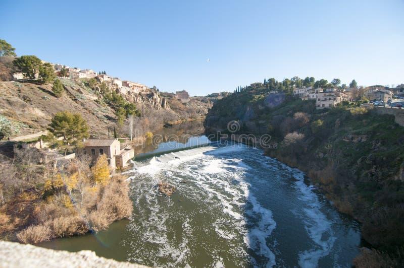 Lado de Toledo River fotografia de stock