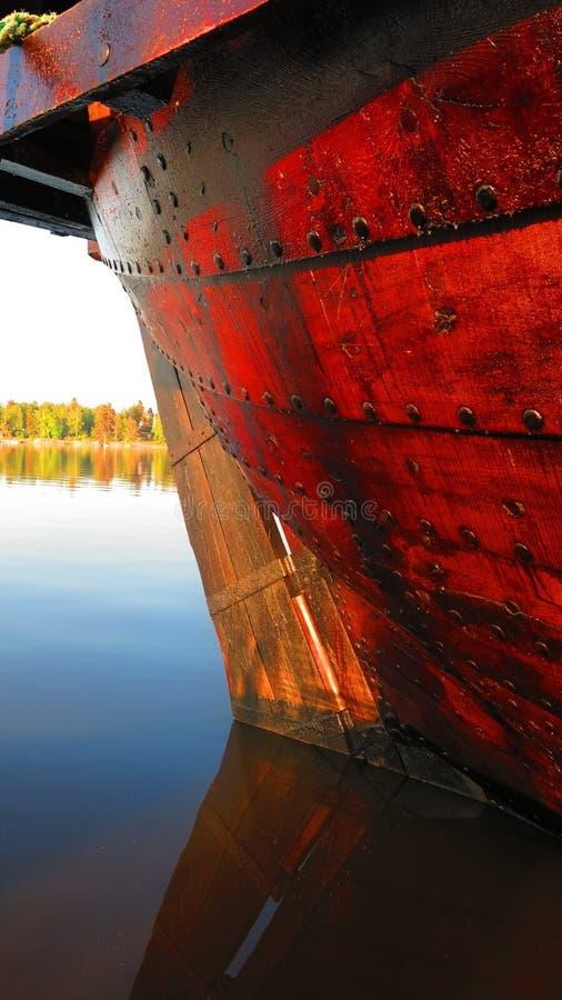 Lado de un barco imagen de archivo libre de regalías