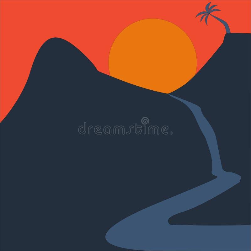 Lado del río de la visión durante puesta del sol fotografía de archivo