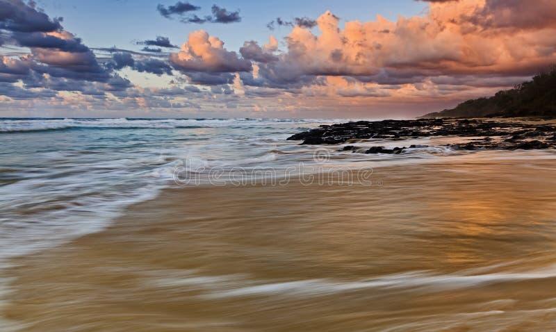 Lado del rosa de la subida de la playa de QE FI imágenes de archivo libres de regalías