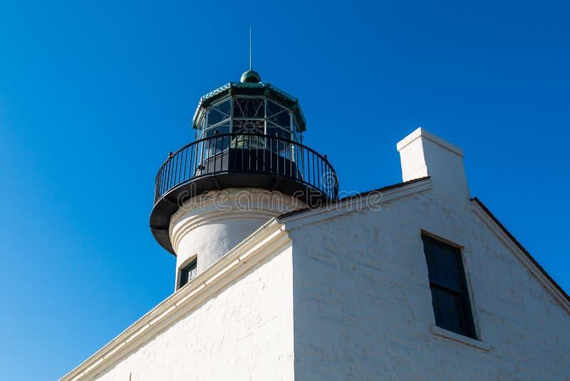 Lado del viejo punto Loma Lighthouse y del sitio de la linterna imágenes de archivo libres de regalías