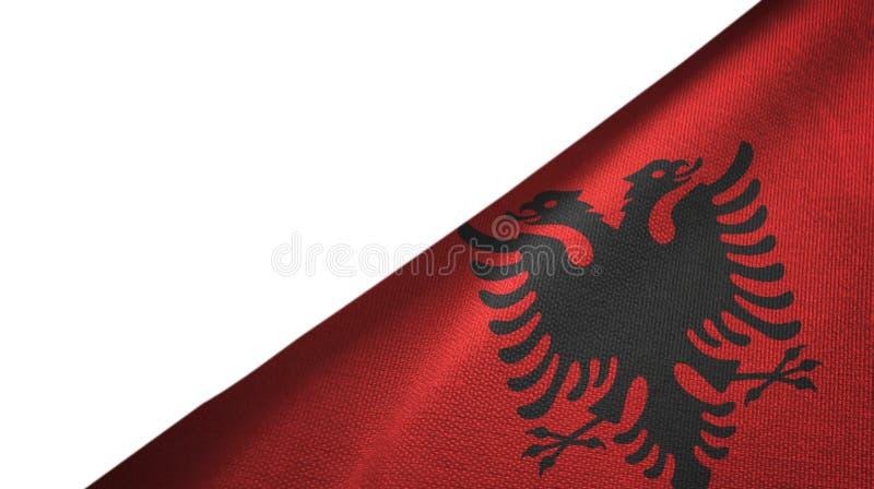 Lado derecho de la bandera de Albania con el espacio en blanco de la copia stock de ilustración