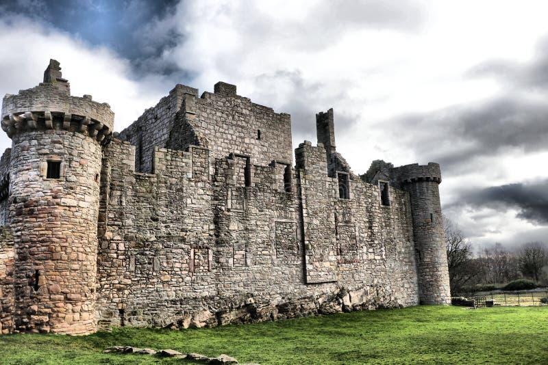 Lado do castelo histórico de Craigmillar, Edimburgo, imagem de stock