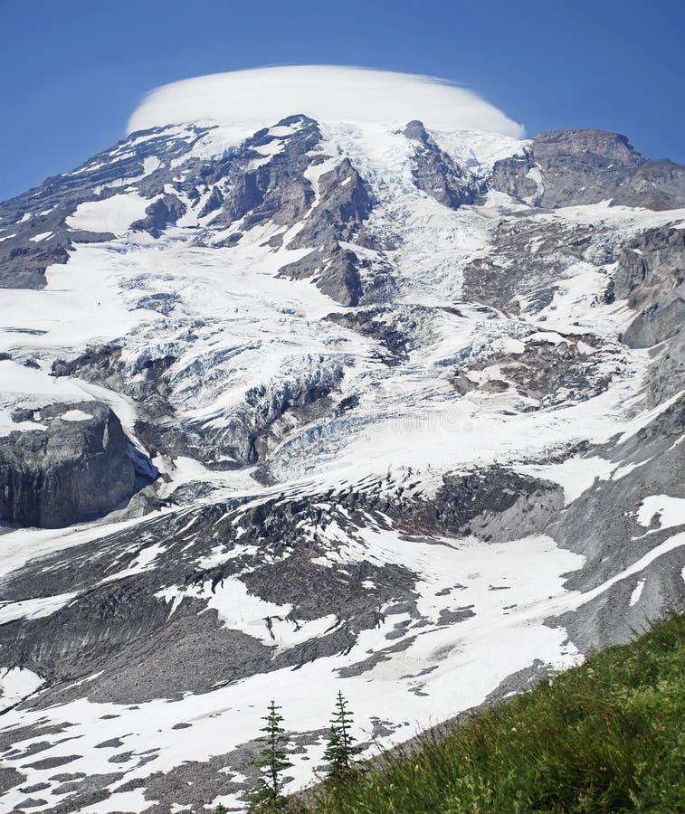 Lado do Monte Rainier fotos de stock royalty free